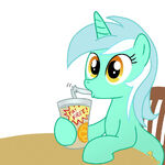 16911 - Lyra artist-madmax drinking heartstrings sitting smoothie