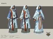Citharede robes concept art