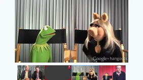 Kermitpiggygooglehangout