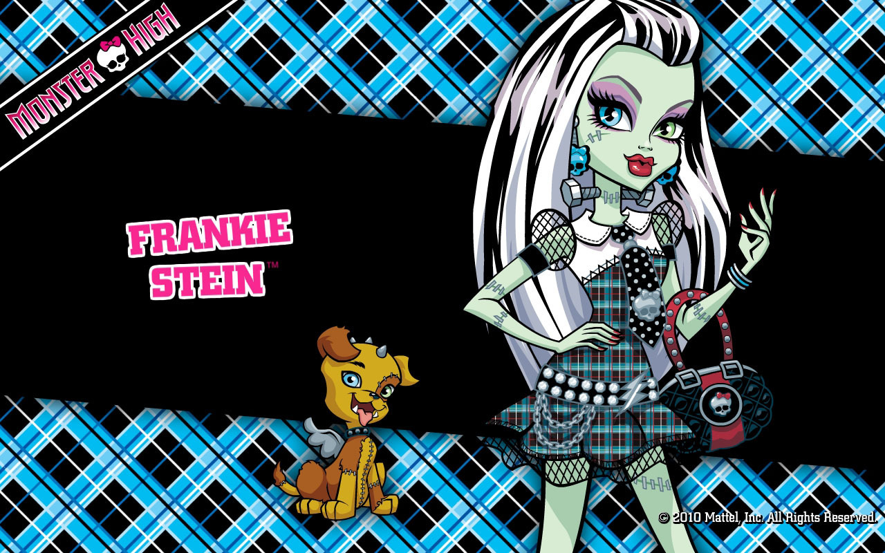 Viste a chica Monster High de Frankie Stein