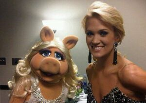 Piggy and Carrie Underwood