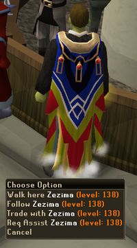 Zezima wearing completionist cape