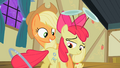 Apple Bloom looks at her two cutie marks S2E06.png