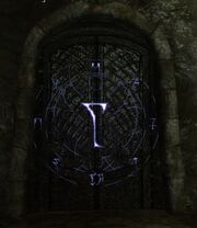 Lightning Rune Door