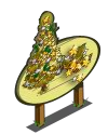Golden Holiday Tree Mastery Sign-icon