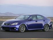 Lexus IS-F Ultrasonic Blue Metallic