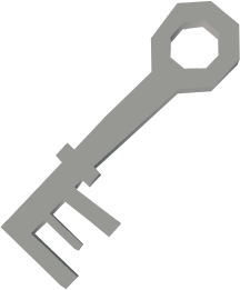 Bone key (Shilo Village) detail