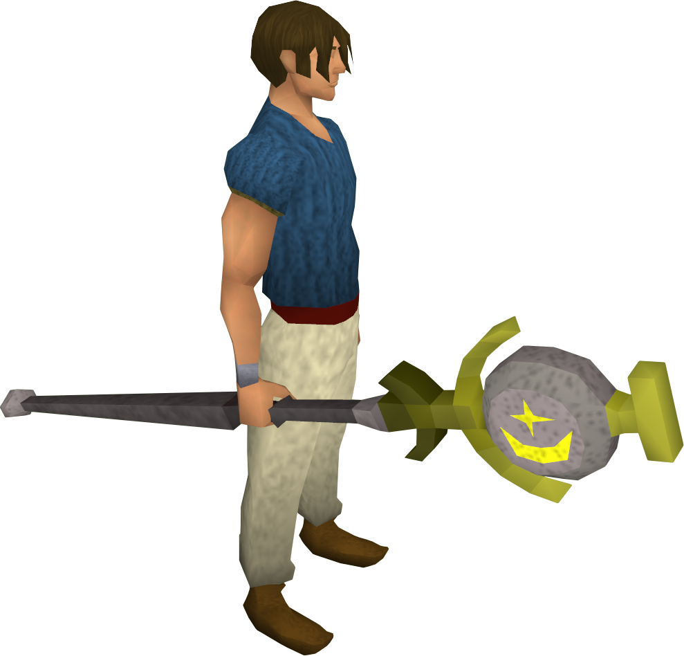 Cosmic talisman staff equipped
