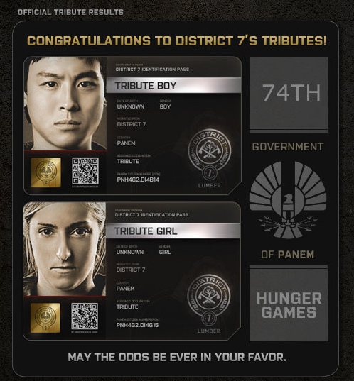 Hunger Games District 7 tributes