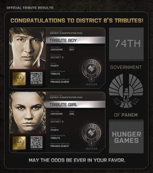 The Hunger Games District 8 tributes