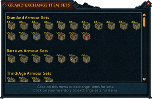 GE item sets window