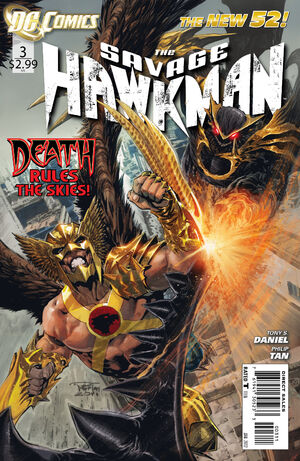 Cover for Savage Hawkman #3