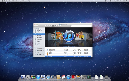 Mac OSX Lion screen
