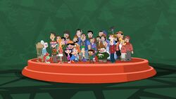 PnF Cast Singing WeWishYouAMerryChristmas