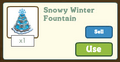 Snowy Winter Fountain Gift Info