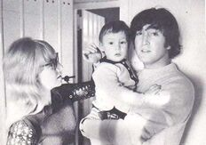 John, Cynthia and Julian