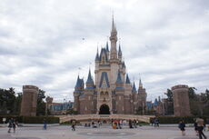 Cinderella Castle of Tokyo Disneyland Japan