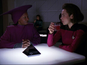 Guinan and Ro Laren (2368)
