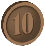 Pre-Alpha Bronze Coin &#39;&#39;10&#39;&#39;