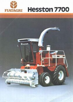 Hesston 7700 forage harvester