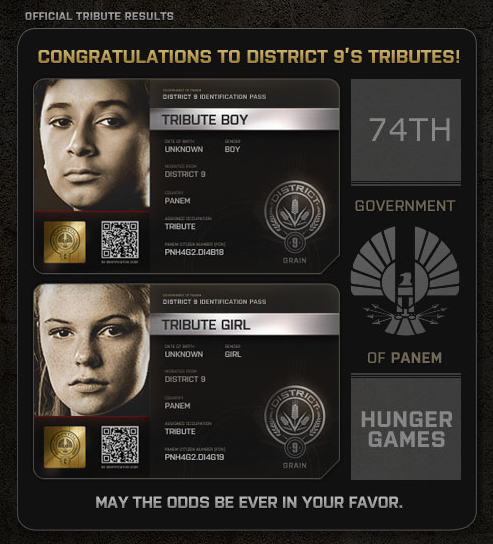The Hunger Games District 9 tributes