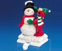 Elmo snowman stocking hanger
