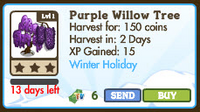 Purple Willow Tree Market Info