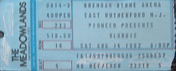 1 TICKET BLONDIE DURAN DURAN EAST RUTHERFORD NJ USA 1982