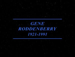 Gene Roddenberry title card Unification part 1