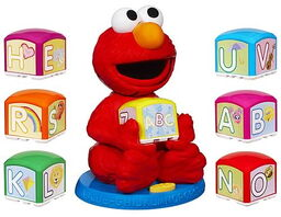 Elmo find and learn alphabet blocks