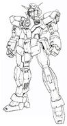 Gundam AGE1 Normal - Front View MG Lineart