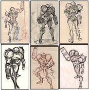 Samus gestures standing