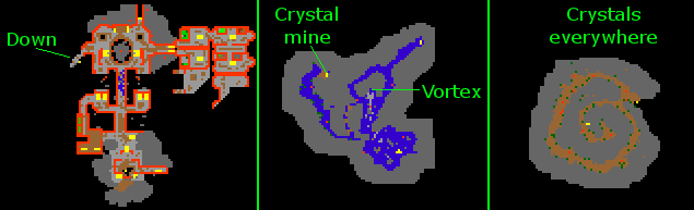 1st Stage Rough Crystal Map