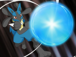 Maylene Lucario Aura Sphere