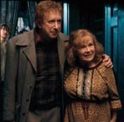 Arthur y Molly Weasley en 1995