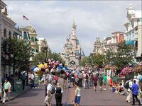Main Street USA of Disneyland Paris