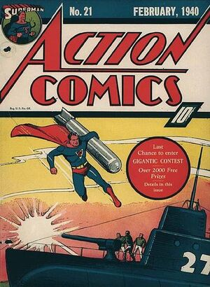 Cover for Action Comics #21