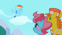 Rainbow Dash shaking her head S2E13
