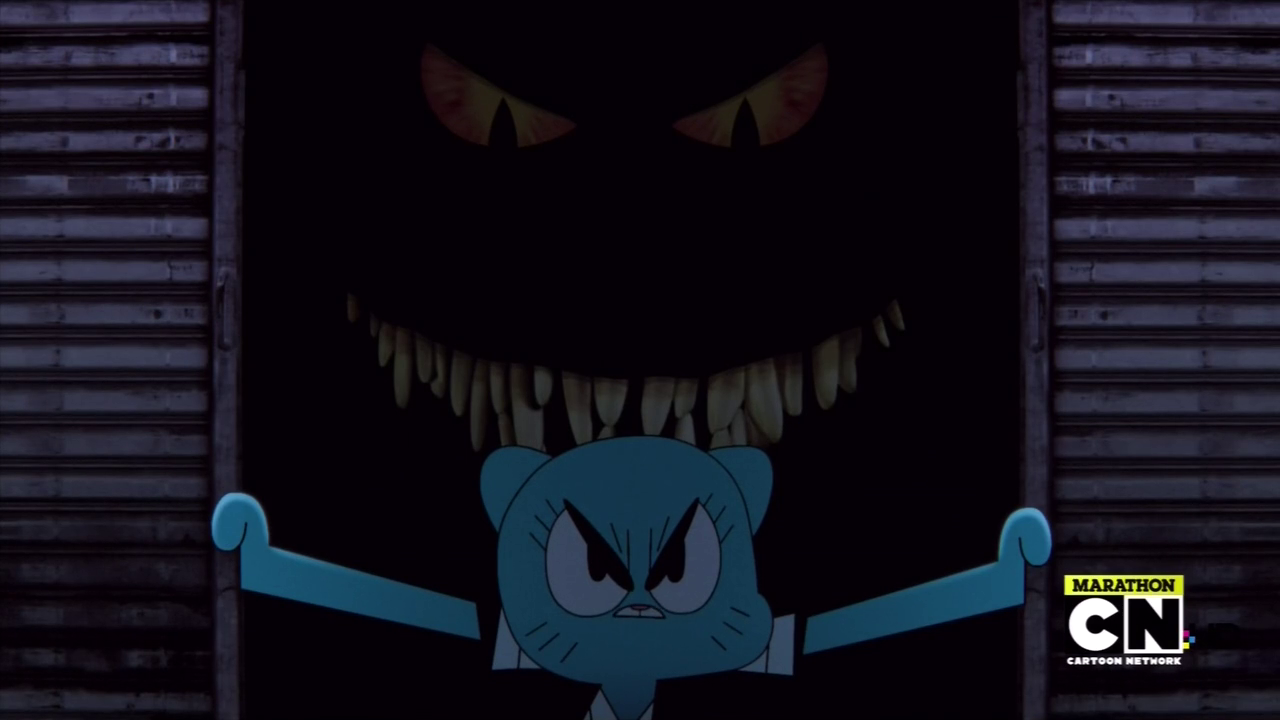 theres also her incredibly menacing father - The Amazing World Of Gumball The Halloween