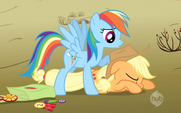 Rainbow Dash caught Applejack 2 S2E14