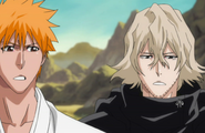 Urahara and Ichigo prepare to leave