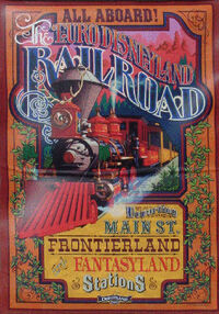 Disneyland Railroad Paris poster