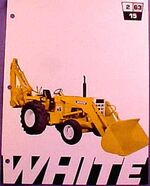 White 2-63-15 backhoe ad - 1970