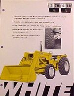 White 4-78L Industrial MFWD w loader ad - 1970