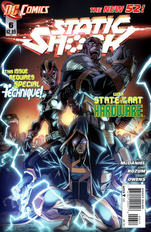 Cover for Static Shock #6