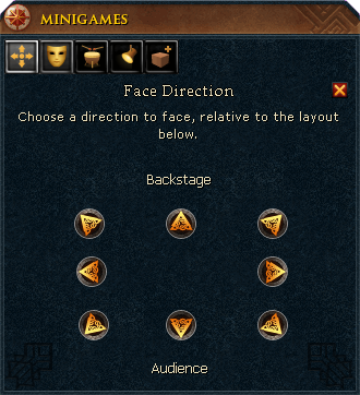Face direction menu