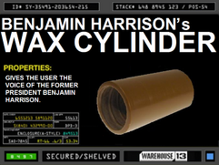 Benjamin Harrison&#39;s Wax Cylinder