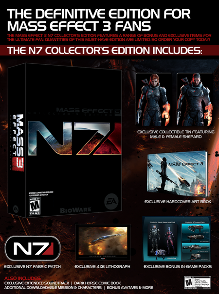 N7 Collector&#39;s Edition Contents