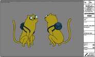 Modelsheet cheetahjake withbackpack
