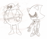 Dr. Robotnik and Metal Sonic